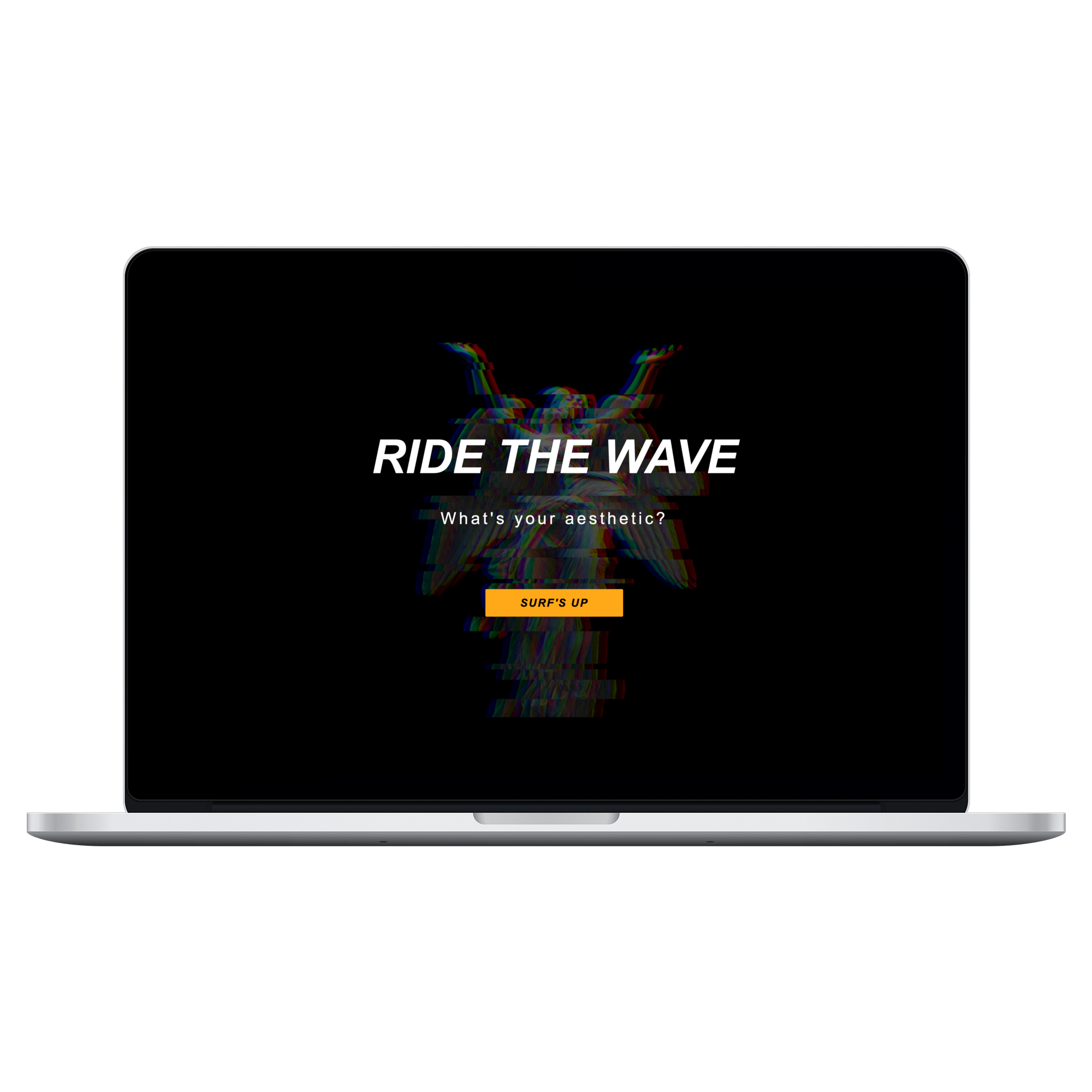 Mockup of Ride the Wave on 15 inch Macbook Pro