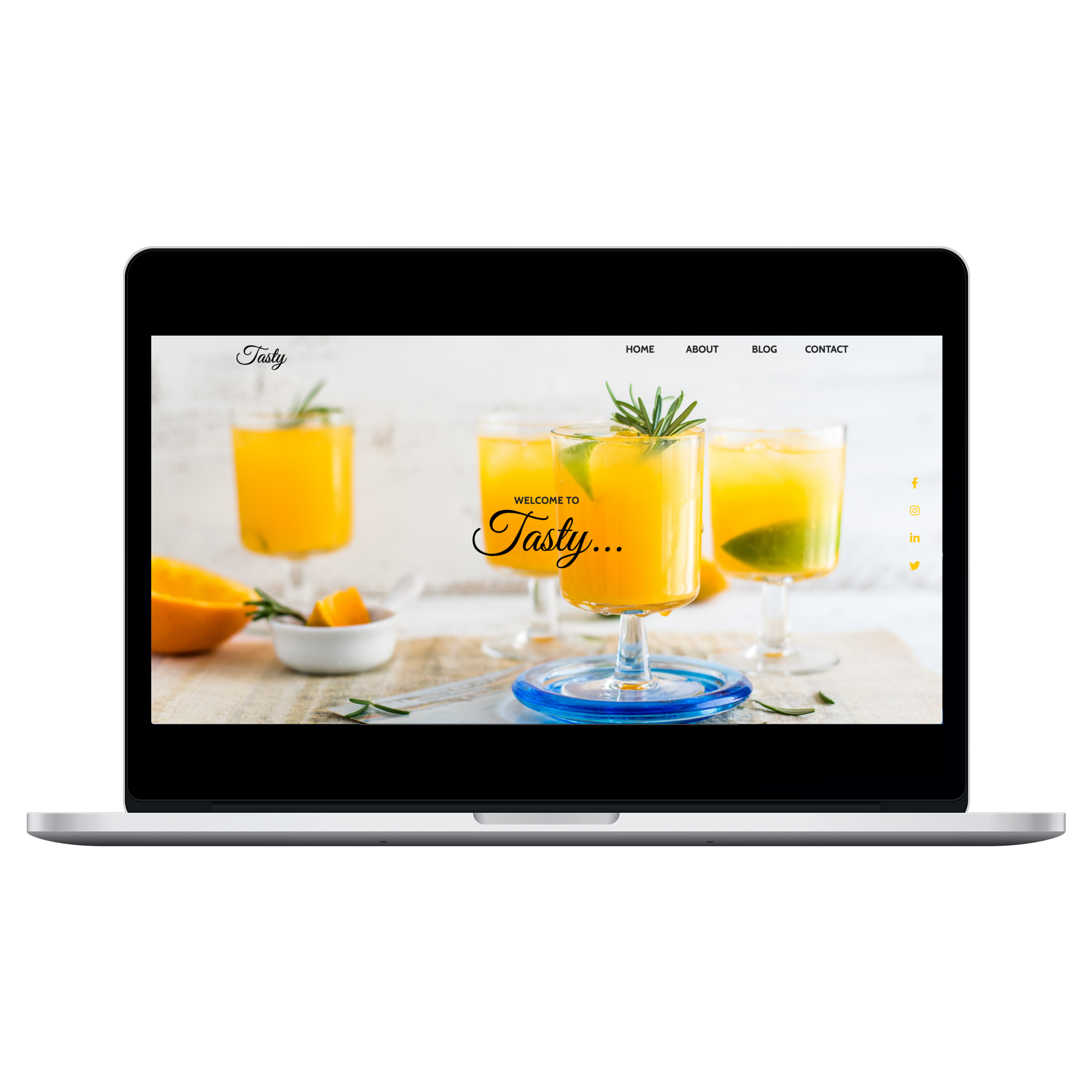 Mockup of Tasty on 15 inch Macbook Pro