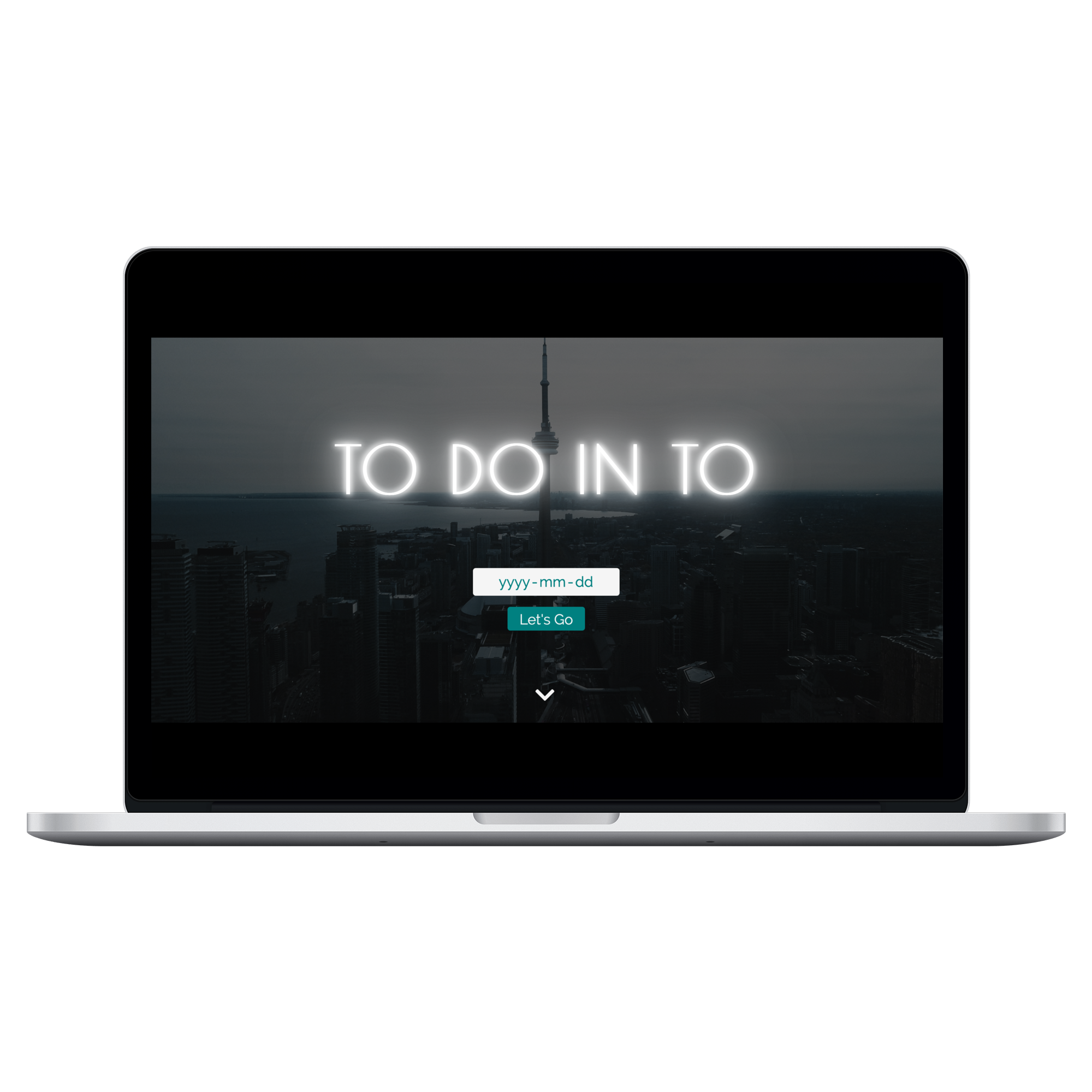 Mockup of To Do in TO on 15 inch Macbook Pro